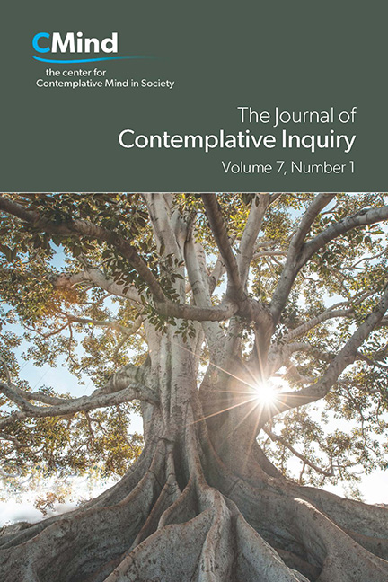 The Journal of Contemplative Inquiry, Volume 7, No. 1