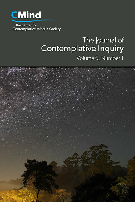 The Journal of Contemplative Inquiry, Volume 6, No. 1